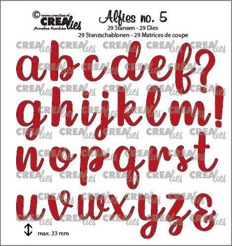 Crealies Alfies no. 5 Kleine letters CLALF05 33mm (05-21)