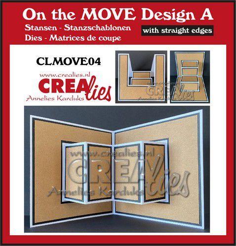 Crealies On The Move Design A rechte randen CLMOVE04 13,5x27cm (05-21)