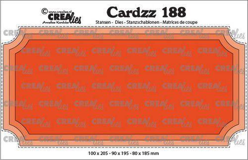 Crealies Cardzz Slimline H ticket CLCZ188 10x20,5cm (05-21)