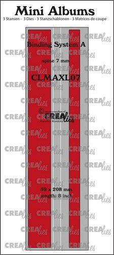 Crealies stans Mini Albums  Bindsysteem A (rug:7mm) glad CLMAXL07 59x208mm (05-21)