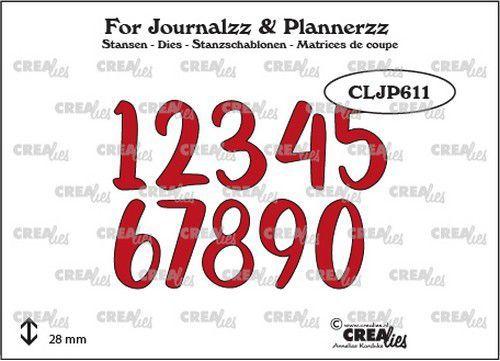 Crealies Journalzz & Pl Stans cijfers no. 5 CLJP611 28mm (05-21)