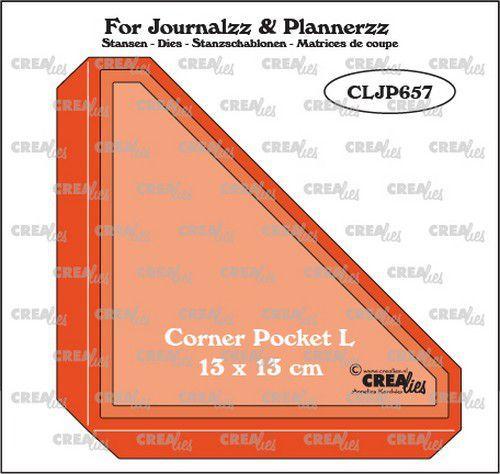 Crealies Journalzz & Pl Pocket Corner L CLJP657 13x13cm (05-21)