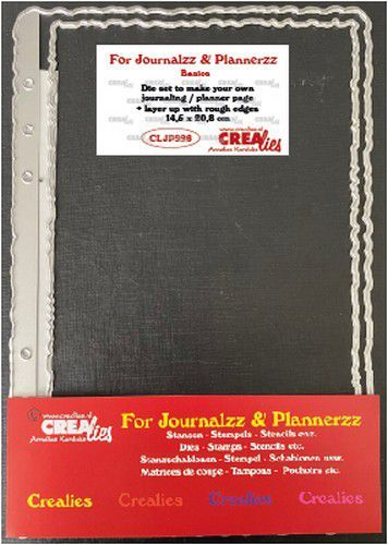 Crealies Journalzz & Pl Stans plannerpagina Ruwe randen CLJP996 14,5x20,8cm (05-21)