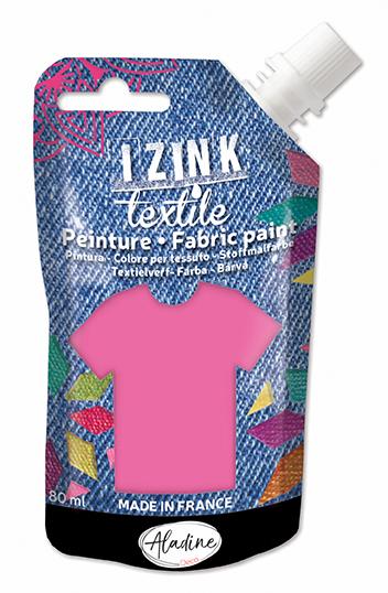 IZINK FABRIC PAINT TEXTILE ROSE FLUO VINYL 50 ML