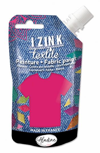 IZINK FABRIC PAINT TEXTILE FUCHSIA MADRAS 50 ML