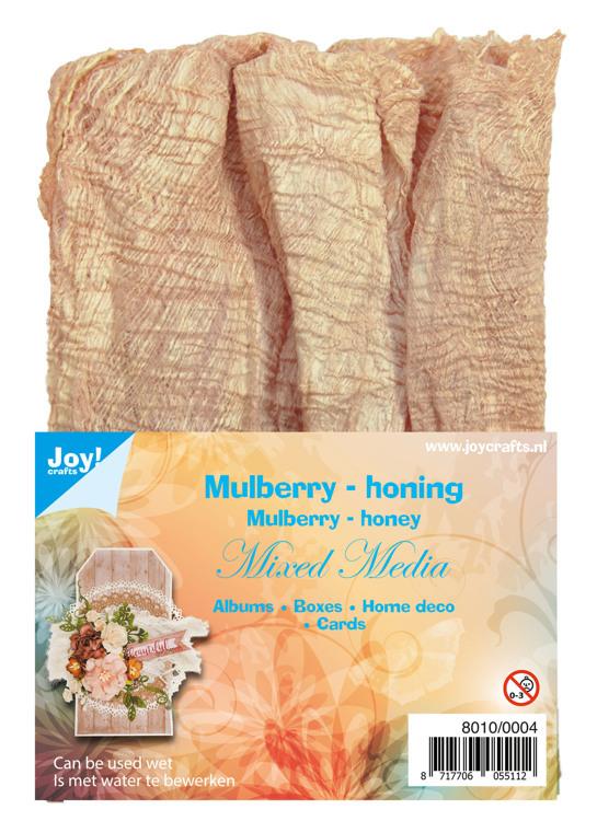 8010/0004 Mulberry boombastvezels voor Mixed Media-honing