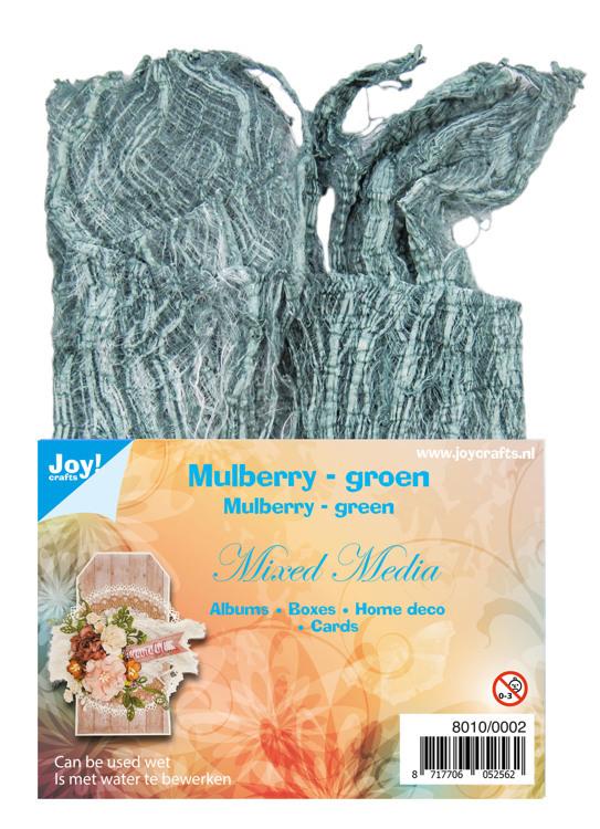 8010/0002 Mulberry boombastvezels voor oa. Mixed Media-groen
