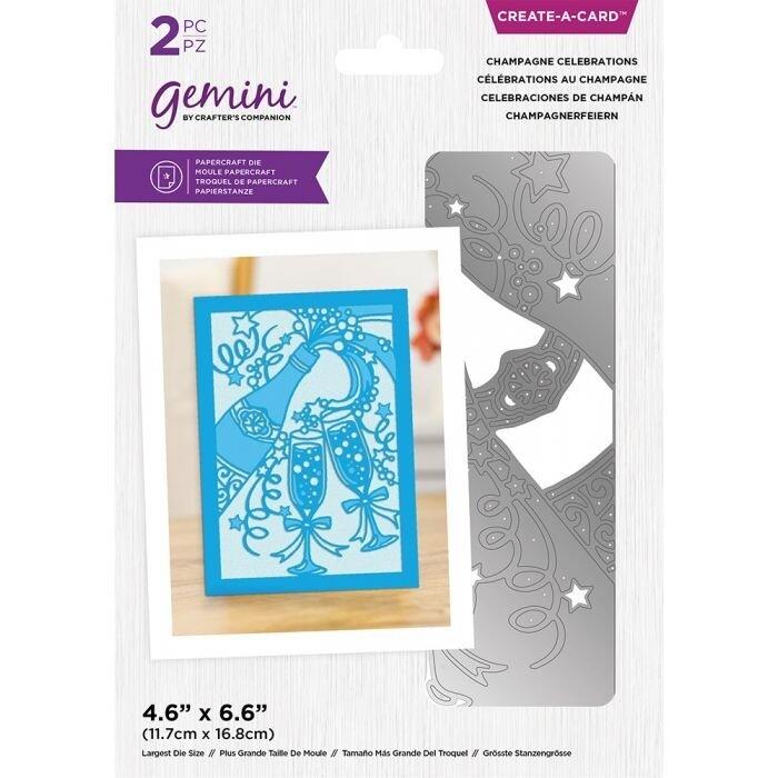 Gemini - Delicate Create A Card snijmal - Champagne Celebrations