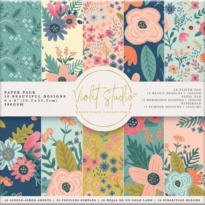 Violet Studio - Paperpad 15x15 cm - Florals