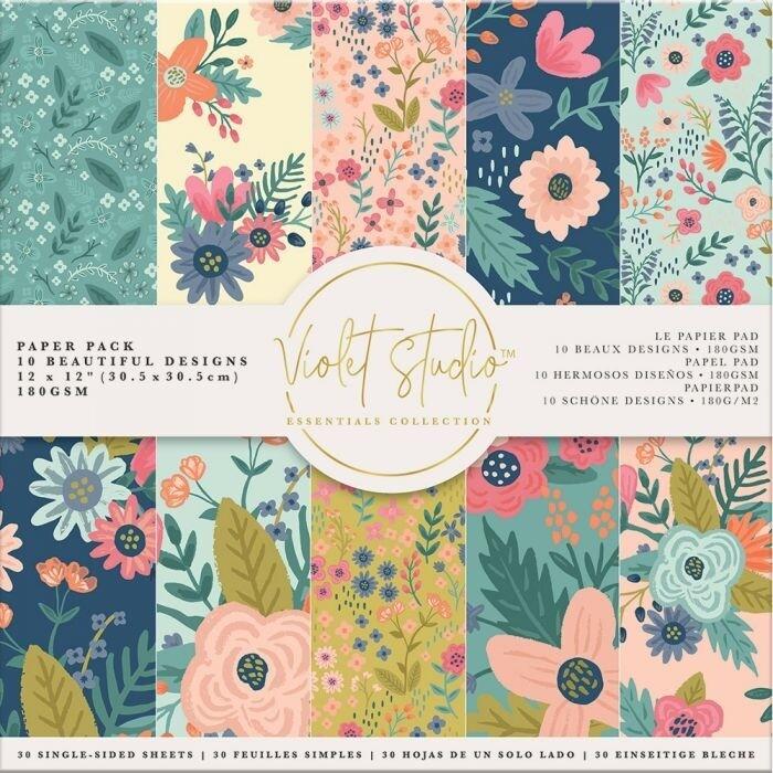Violet Studio - Paperpad 30x30 cm - Florals