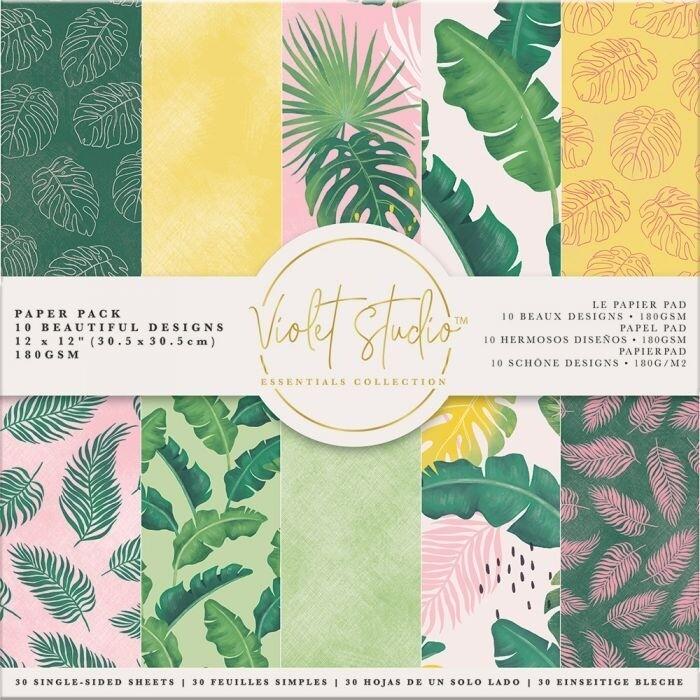 Violet Studio - Paperpad 30x30 cm - Tropical