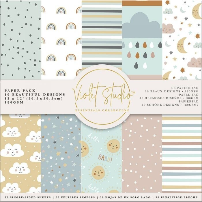 Violet Studio - Paperpad 30x30 cm - Baby