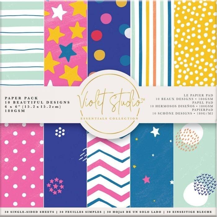 Violet Studio - Paperpad 15x15 cm - Spots & Stripes