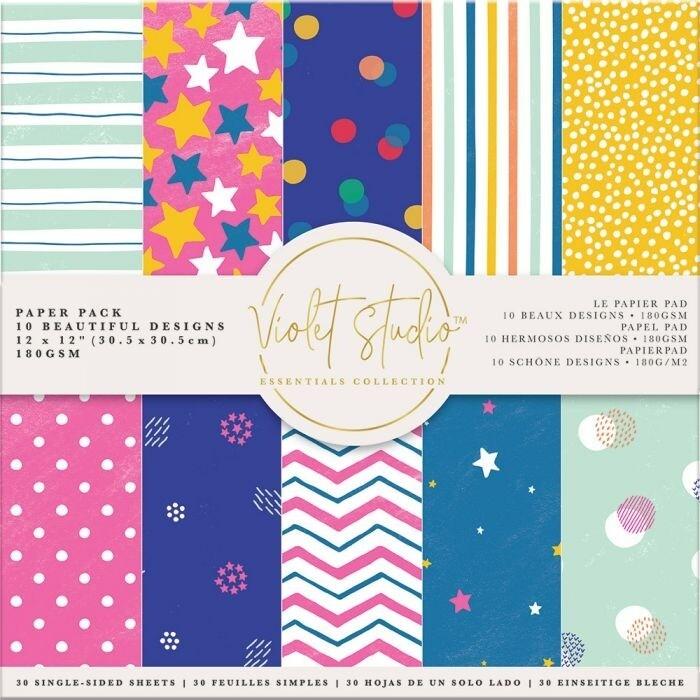 Violet Studio - Paperpad 30x30 cm - Spots & Stripes