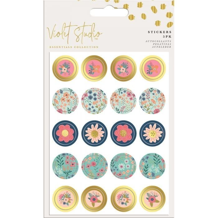 Violet Studio - Mini Stickers - Floral - 100pcs