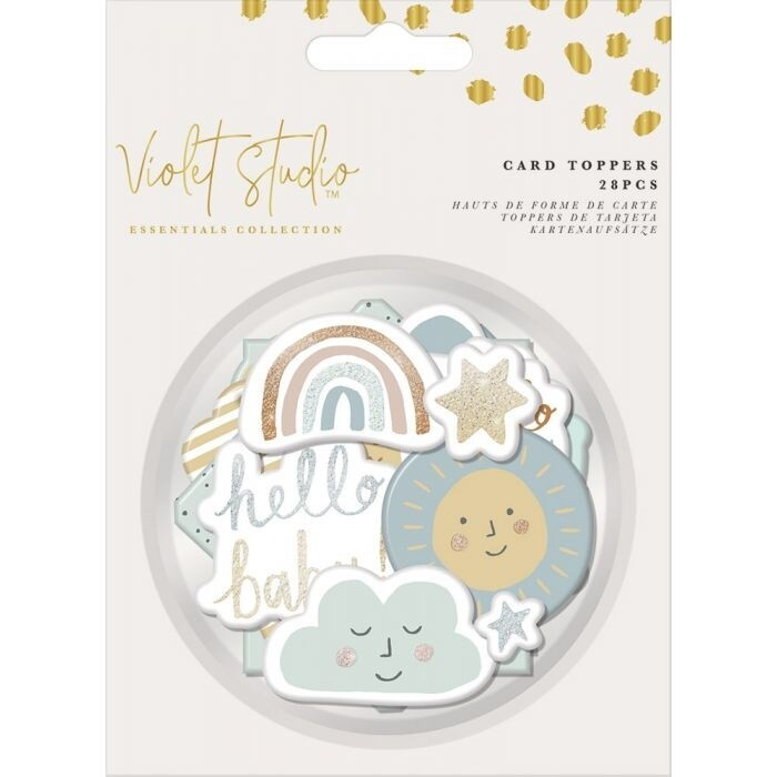Violet Studio - Assorted Card Toppers - Baby - 28pcs