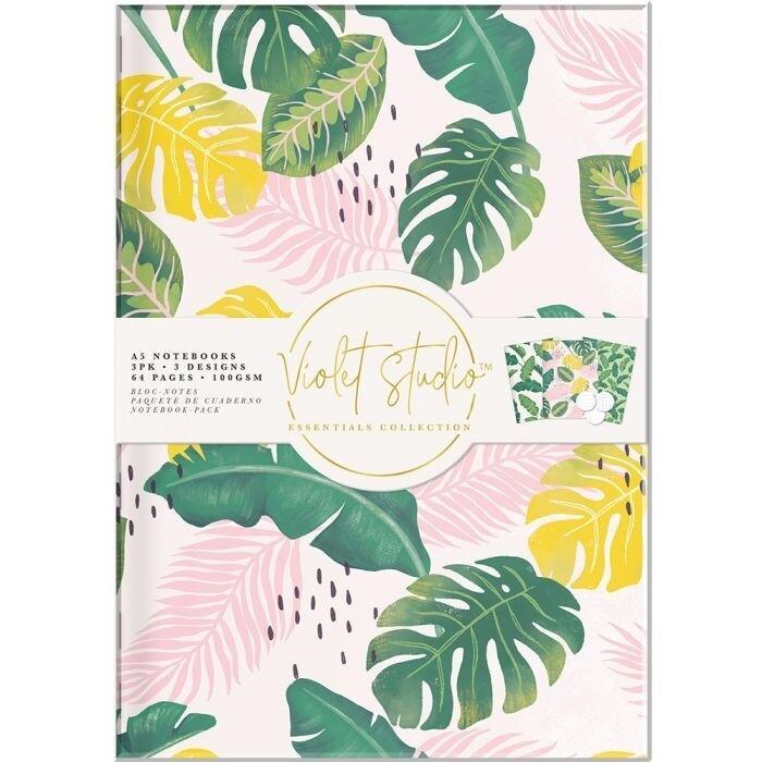 Violet Studio - A5 Notebook Pack - Tropical - 3pk