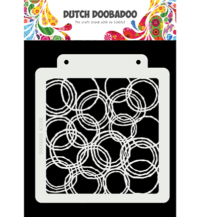 Dutch Mask Art Grunge Circles