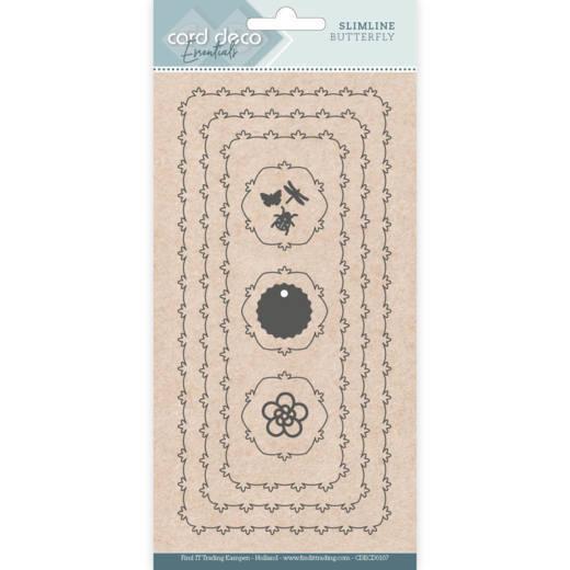 Card Deco Essentials - Slimline Dies - Slimline Butterfly