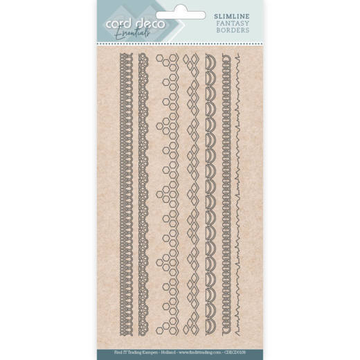 Card Deco Essentials - Slimline Dies - Slimline Fantasy Borders