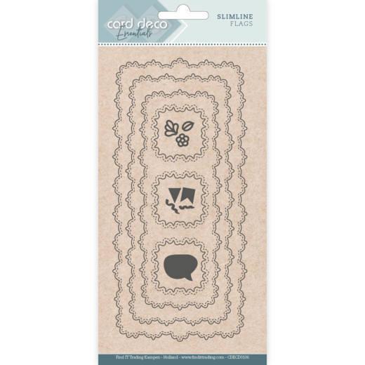 Card Deco Essentials - Slimline Dies - Slimline Flags