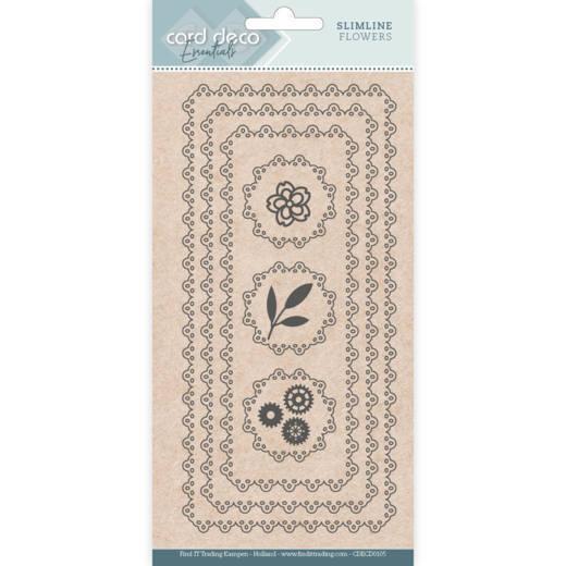 Card Deco Essentials - Slimline Dies - Slimline Flowers