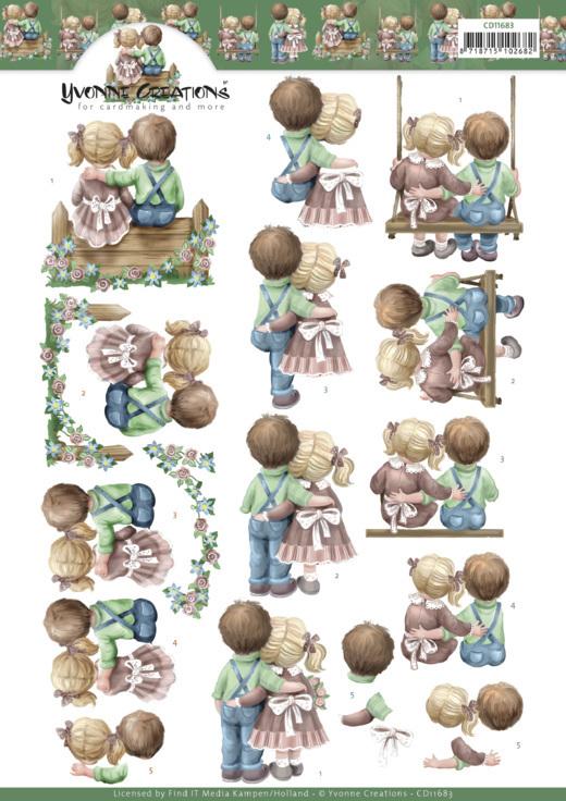 3D Cutting Sheet -Yvonne Creations -Love