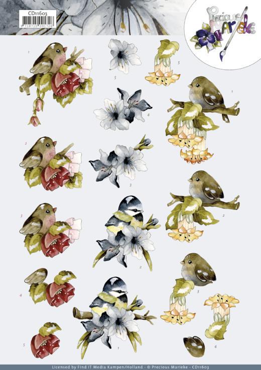 3D Cutting Sheet -Precious Marieke - Birds