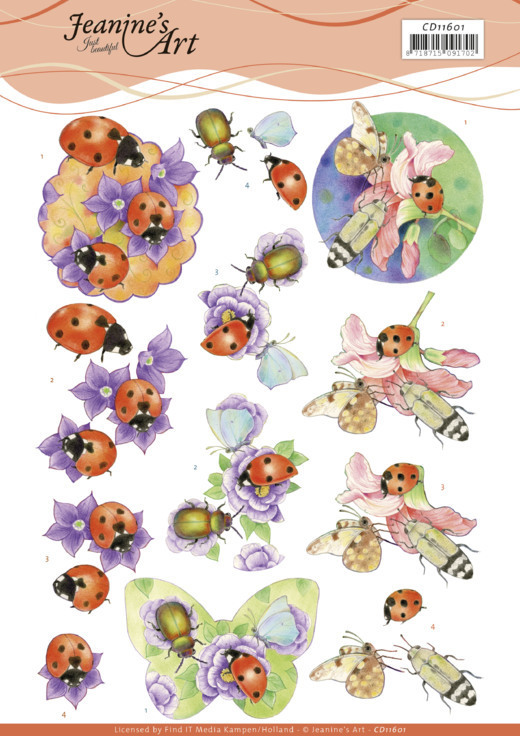 3D Cutting Sheet -Jeanine's Art -Ladybug