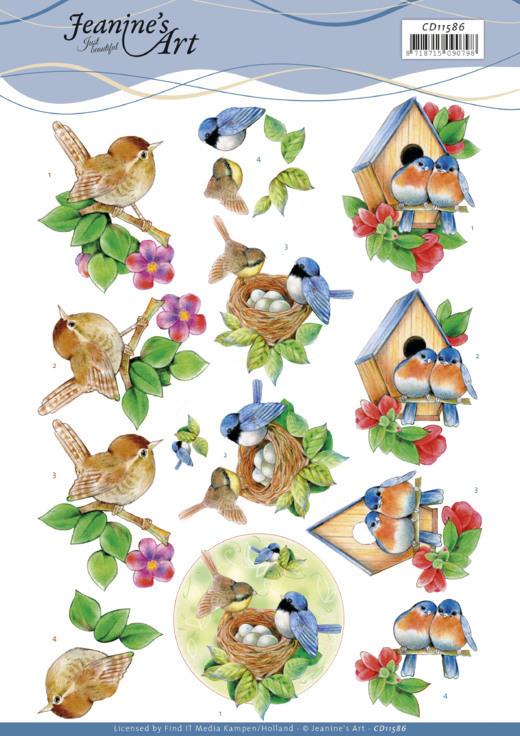 3D Cutting Sheet -Jeanine's Art -Birds