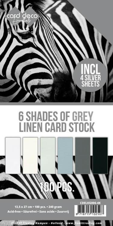 6 Shades of Grey Linen Card Stock - 4K