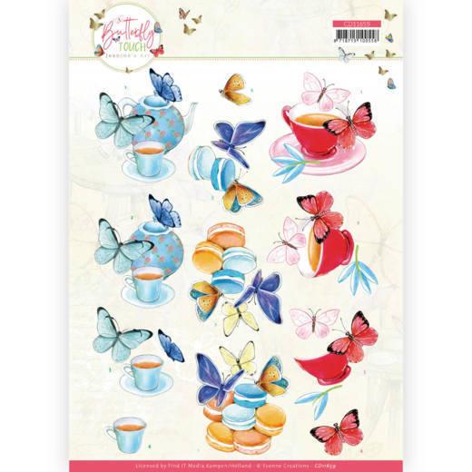 3D Cutting Sheet - Jeanine's Art - Butterfly Touch - Blue Butterfly