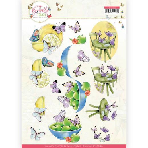 3D Cutting Sheet - Jeanine's Art - Butterfly Touch - Purple Butterfly