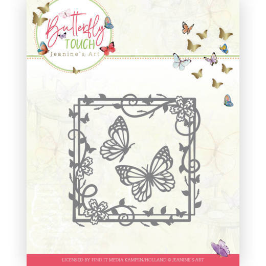 Dies - Jeanine's Art - Butterfly Touch - Butterfly Square