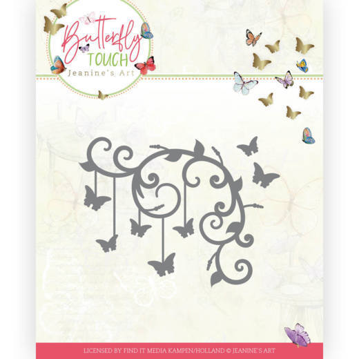 Dies - Jeanine's Art - Butterfly Touch - Butterfly Corner