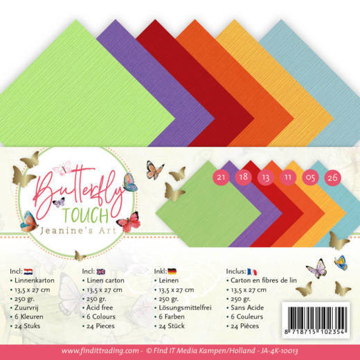 Linen Cardstock Pack - 4K - Jeanine's Art - Butterfly Touch