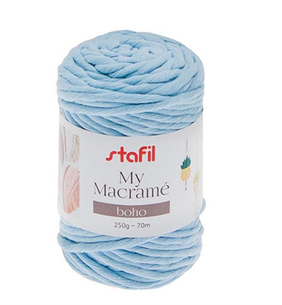 Macrame Boho, Blue Baby