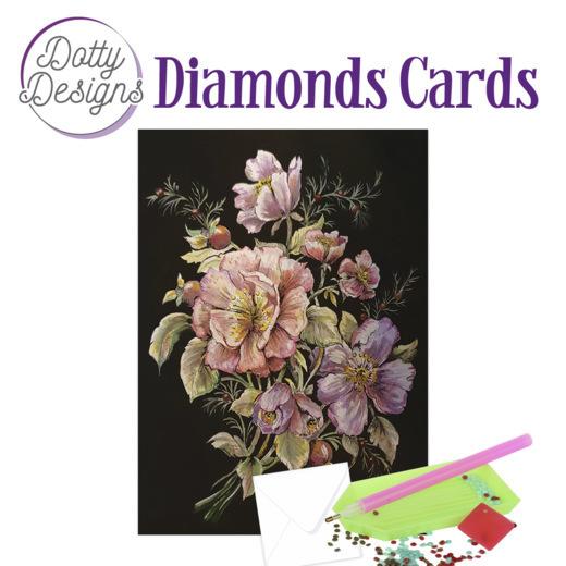 Dotty Designs Diamond Cards - Roses in Black