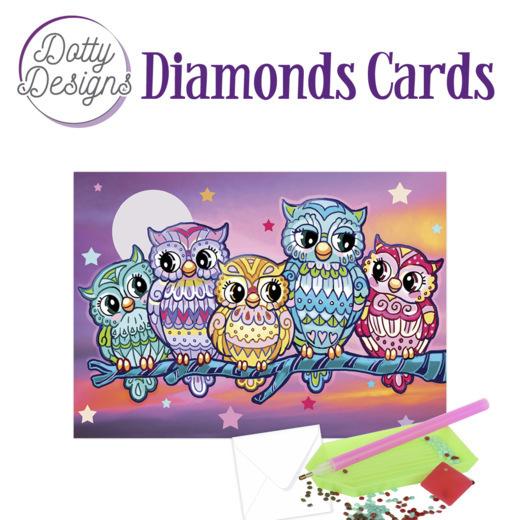 Dotty Designs Diamond Cards - Kitschy Owls