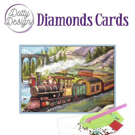 Dotty Designs Diamond Cards - Vintage Train