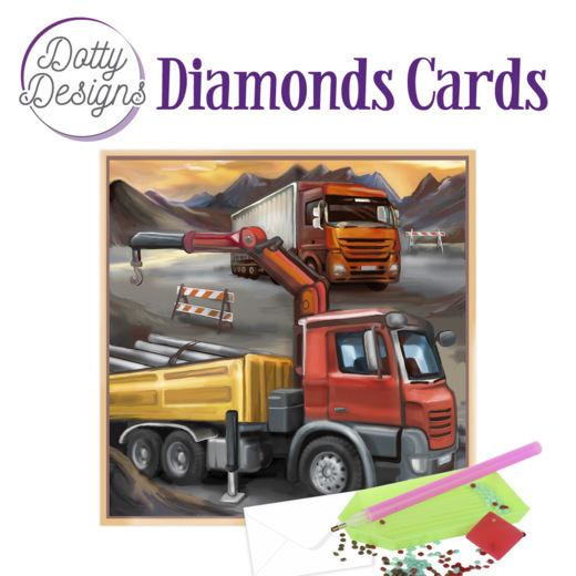 Dotty Designs Diamond Cards - Vintage Truck