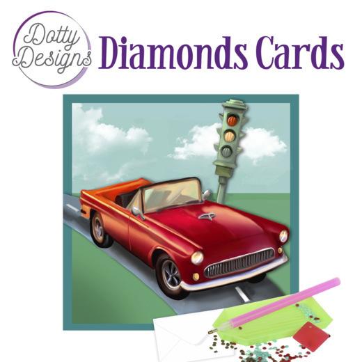 Dotty Designs Diamond Cards - Vintage Red Car