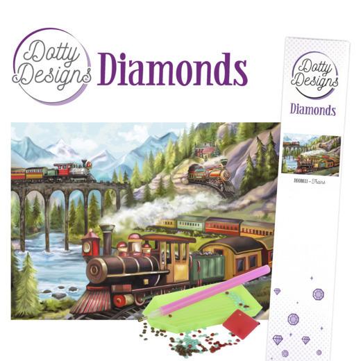 Dotty Designs Diamonds - Trains