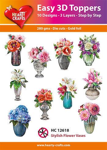 HC12618 Easy 3D-Toppers Stylish Flower Vases