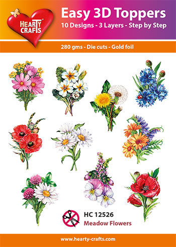 HC12526 Easy 3D-Toppers Meadow Flowers
