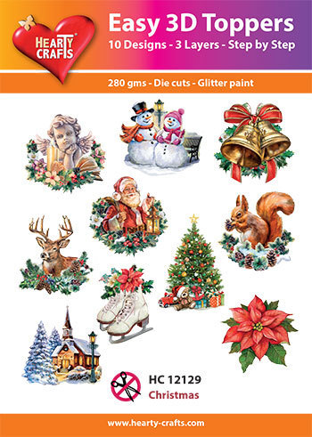Easy 3D-Toppers Christmas