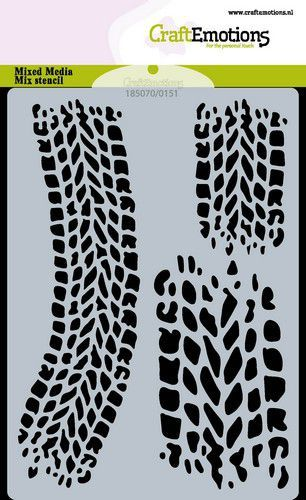CraftEmotions Mask stencil Cars - bandensporen A6 Carla Creaties (06-21)
