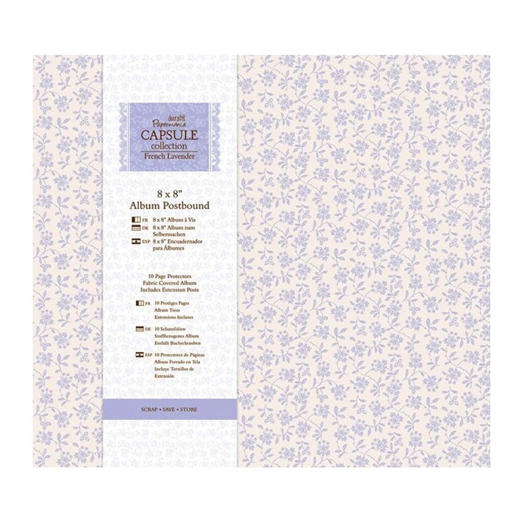 """8 x 8"""" Album Postbound (10 Page Protectors) - Capsule Collection - French Lavender"""