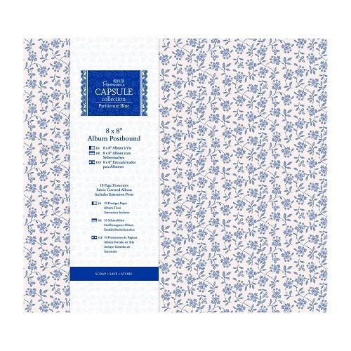 """8 x 8"""" Album Postbound (10 Page Protectors) - Capsule Collection - Parisienne Blue"""