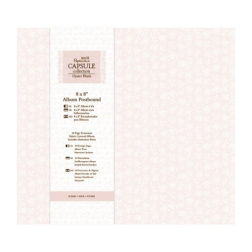 """8 x 8"""" Album Postbound (10 Page Protectors) - Capsule Collection  oyster blush"""